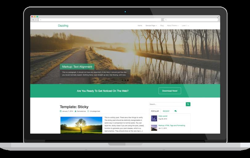 Dazzling-wordpress-theme-free