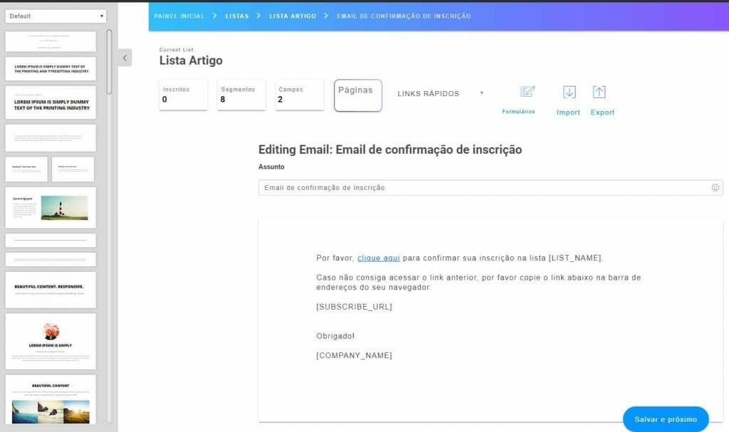 04 e mail de confirmação de inscrição do Mailingboss